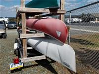 Lot of 3 Canoes and Trailer